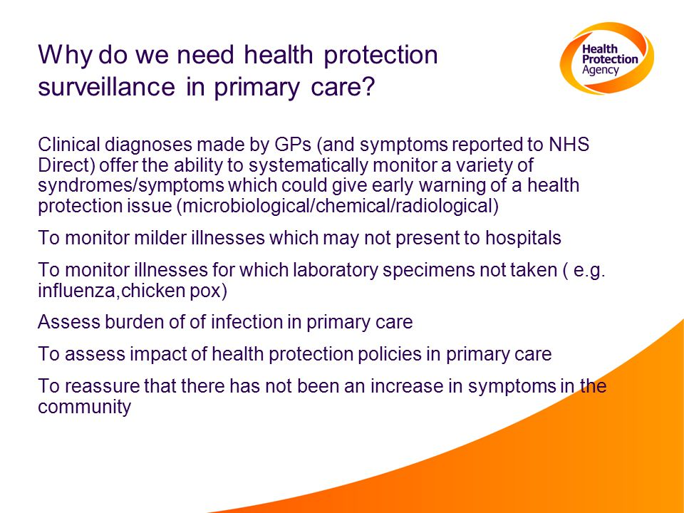 Why do we need health protection surveillance in primary care.