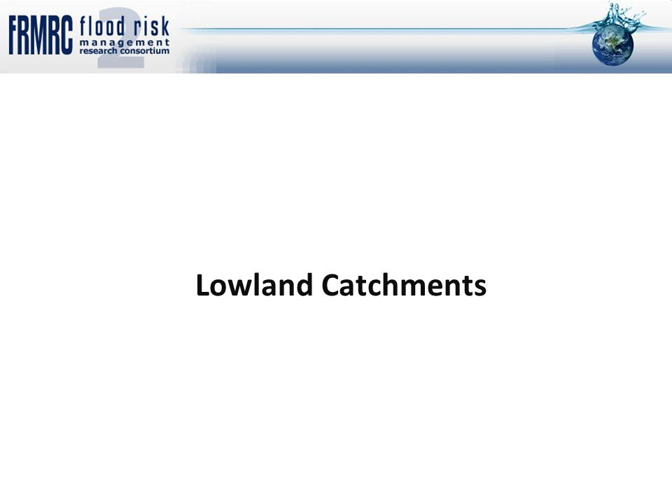 Lowland Catchments
