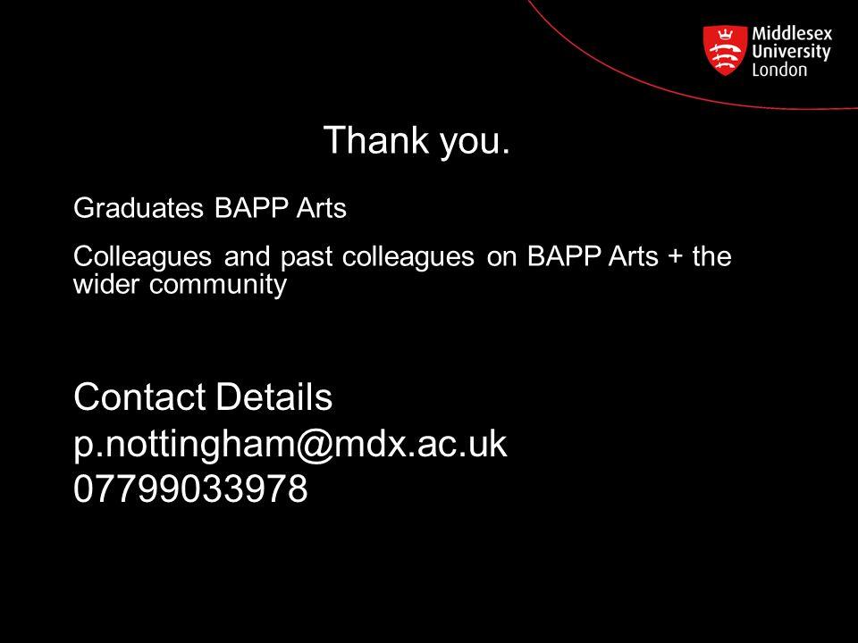 Contact Details p.nottingham@mdx.ac.uk 07799033978 Thank you.
