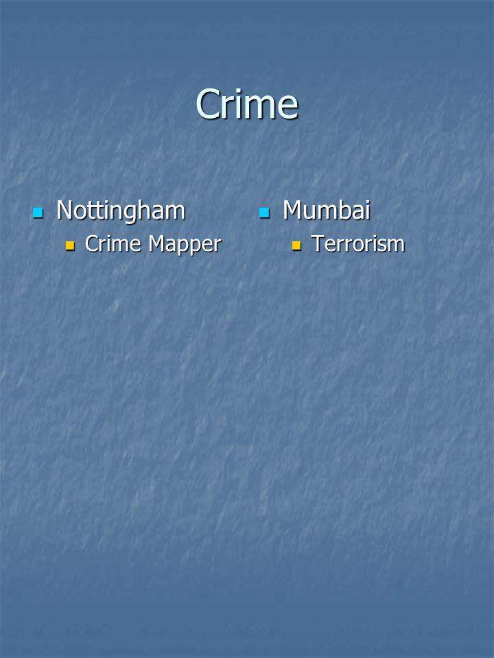 Crime Nottingham Nottingham Crime Mapper Crime Mapper Mumbai Mumbai Terrorism