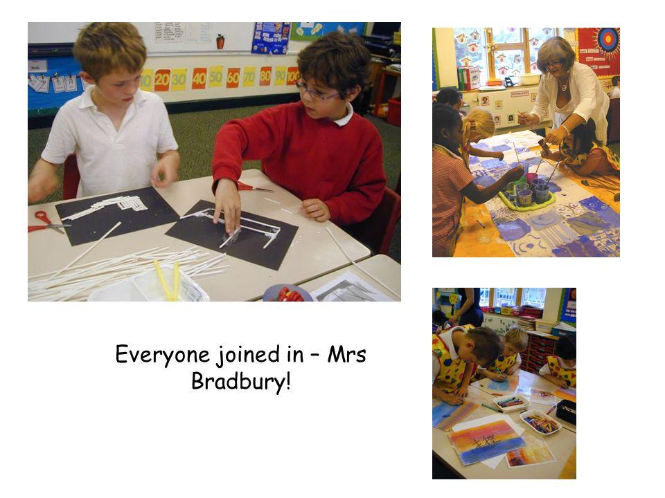 Everyone joined in – Mrs Bradbury!