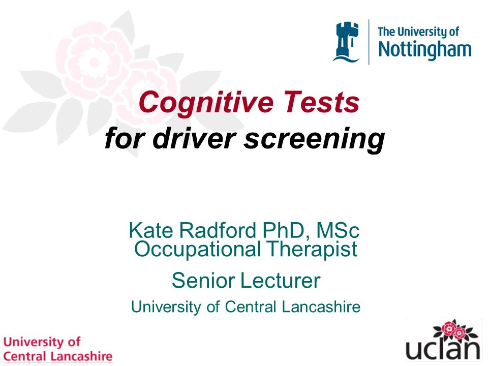 62 Diagnosis Specific Equations Radford KA et al Validation of the Stroke Drivers Screening Assessment for people with Traumatic Brain Injury.