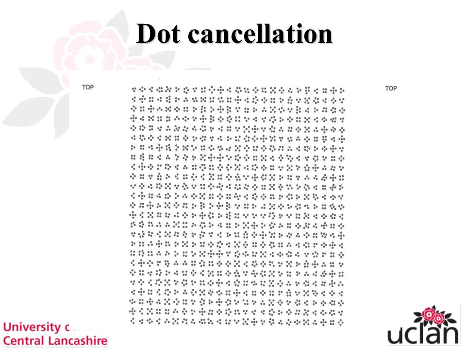 55 Dot cancellation