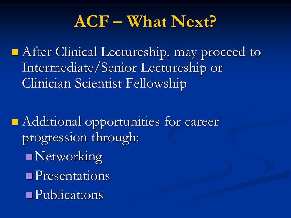 ACF – What Next.
