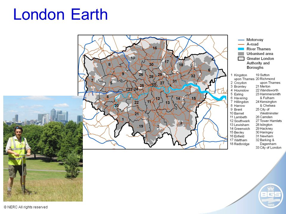 © NERC All rights reserved London Earth