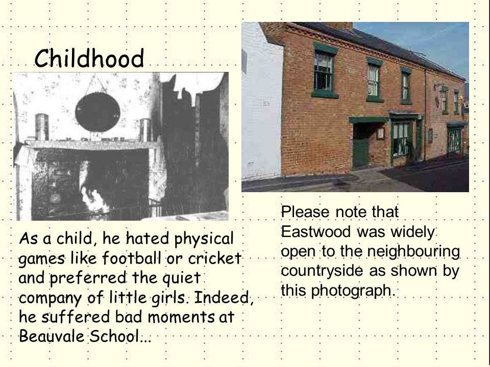 Please note that Eastwood was widely open to the neighbouring countryside as shown by this photograph.