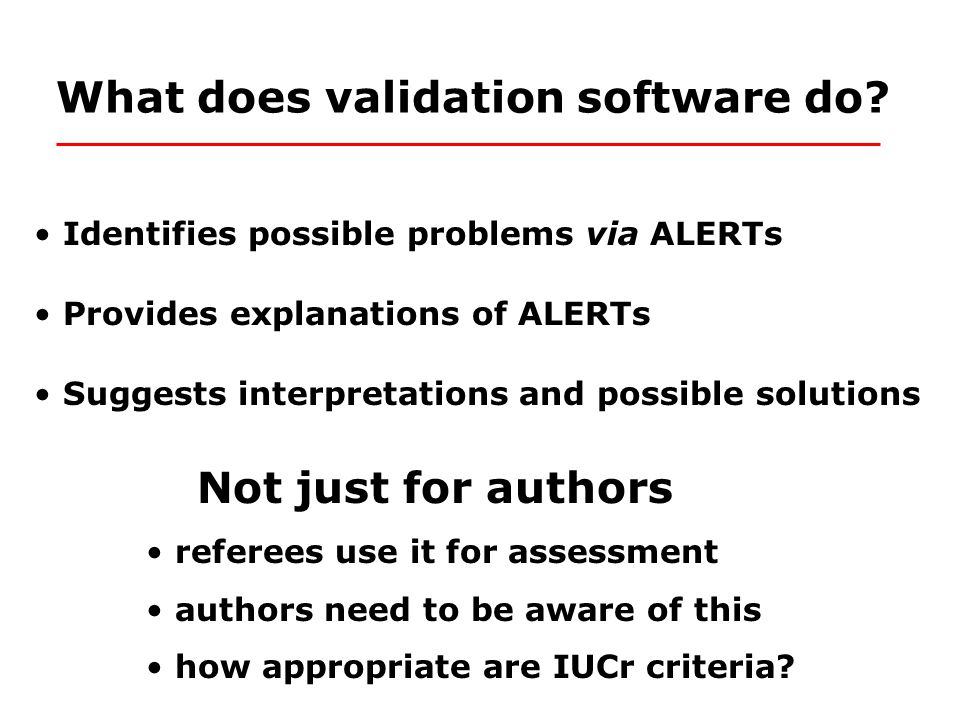 What does validation software do.