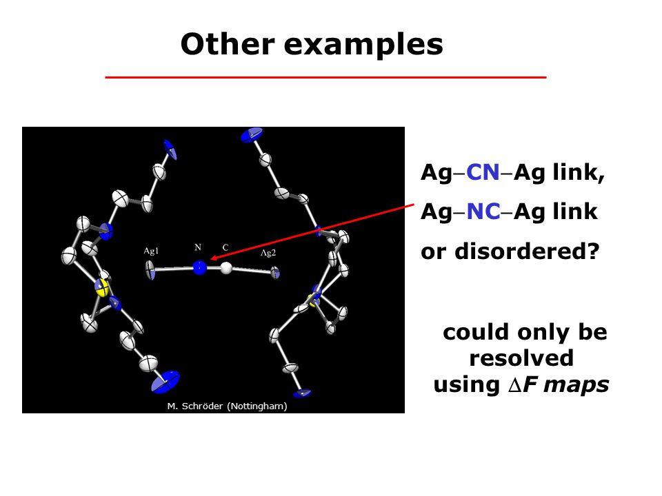 AgCNAg link, AgNCAg link or disordered. could only be resolved using F maps M.