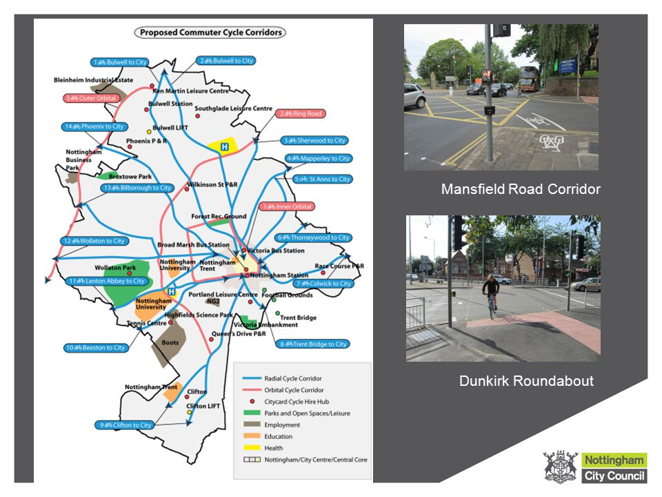 Mansfield Road Corridor Dunkirk Roundabout