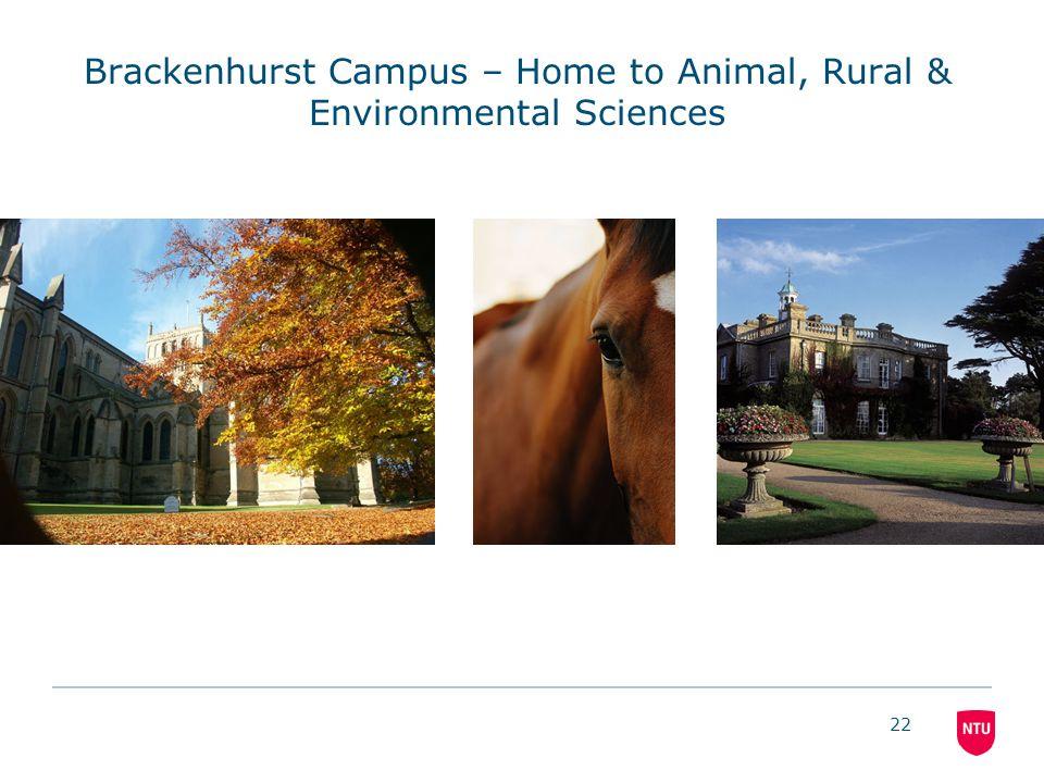 22 Brackenhurst Campus – Home to Animal, Rural & Environmental Sciences