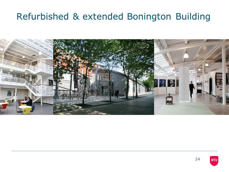 24 Refurbished & extended Bonington Building
