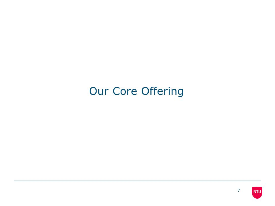 7 Our Core Offering