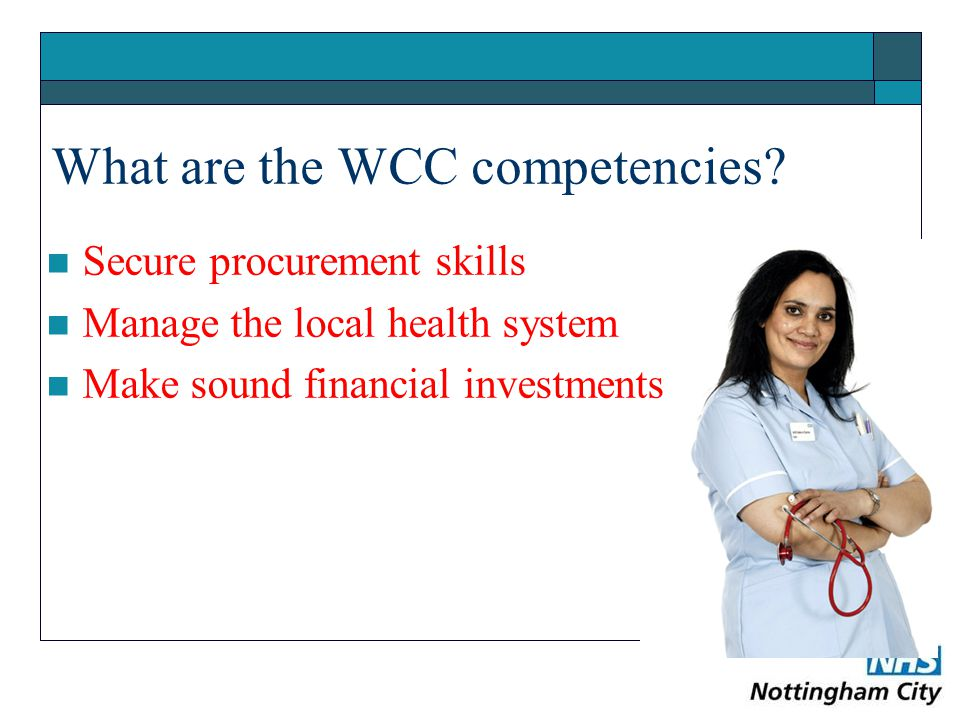 What are the WCC competencies.