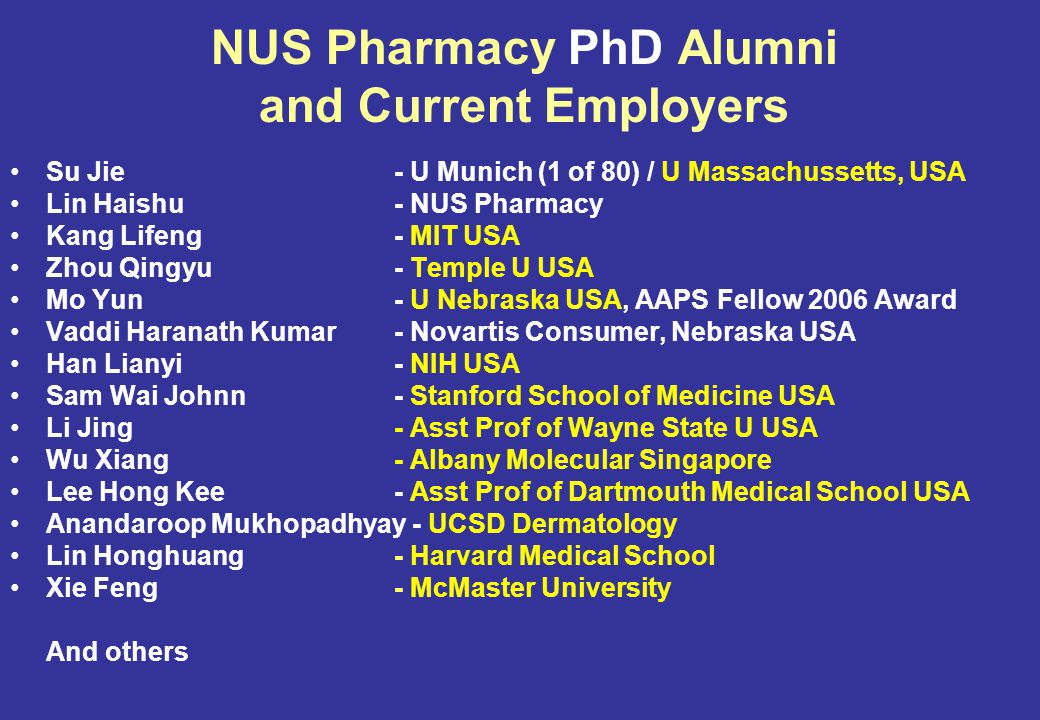 11 May 2015 Alumni Pharmacists Making a difference to the lives of patients