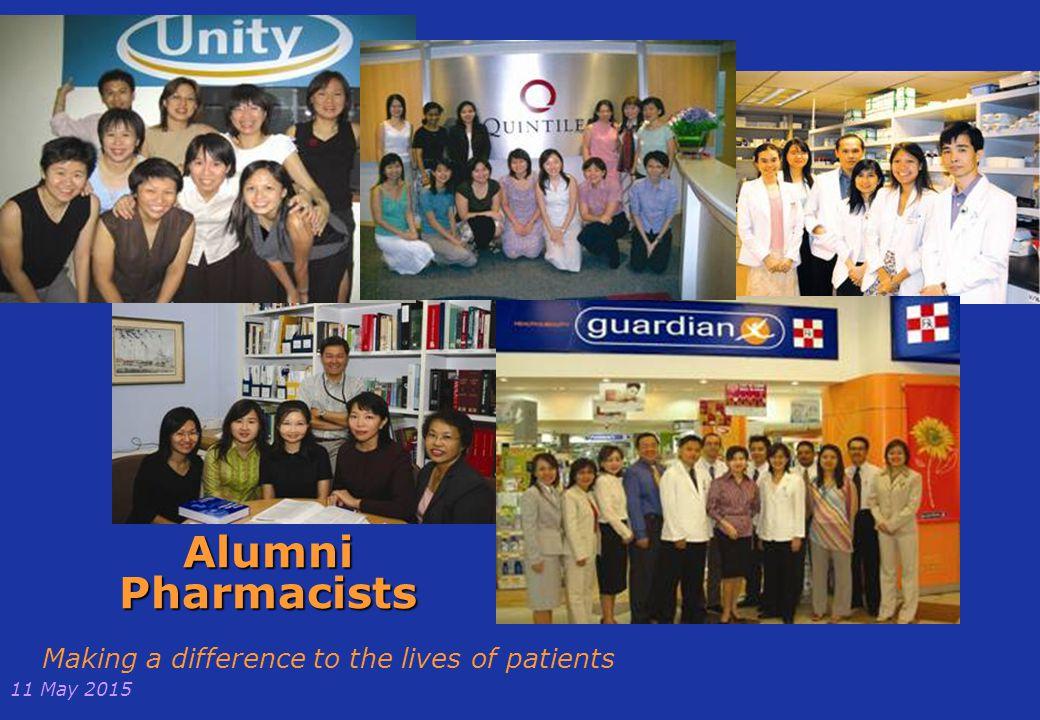 11 May 2015 NUS Pharmacy BSc Alumni in Singapore Lam Pin Woon - CEO Health Promotion Board Ang Hui Gek- Chief Pharmacist Liak Teng Lit- CEO Alexander Hospital Chew-Koh Kwee Tiang - COO Alexander Hospital And others