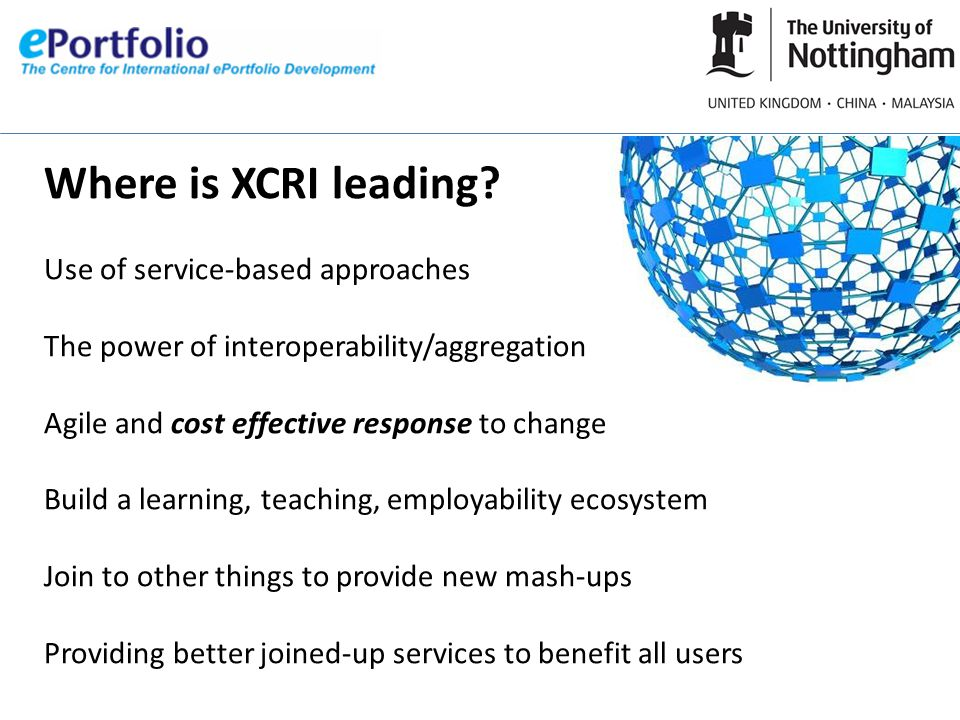 Where is XCRI leading.