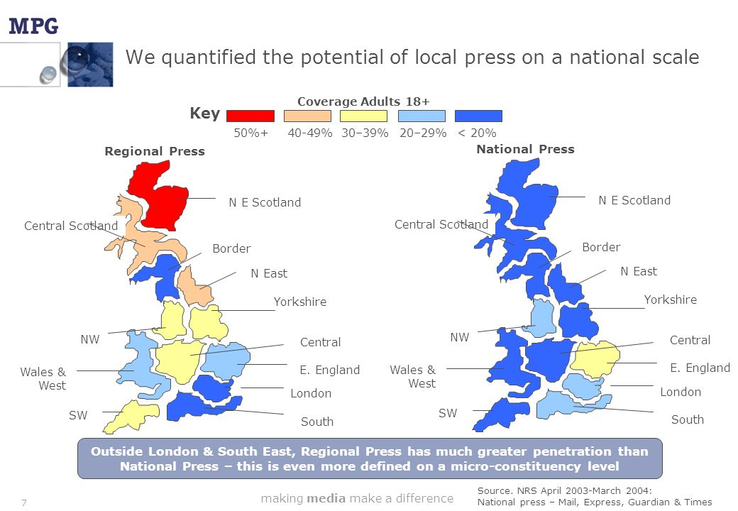 making media make a difference 8 We then used JICREG to map all local papers in every 192 constituencies to work out local press' coverage in area Chester Chester & District Standard Chester Chronicle Chester Mail CHESTER