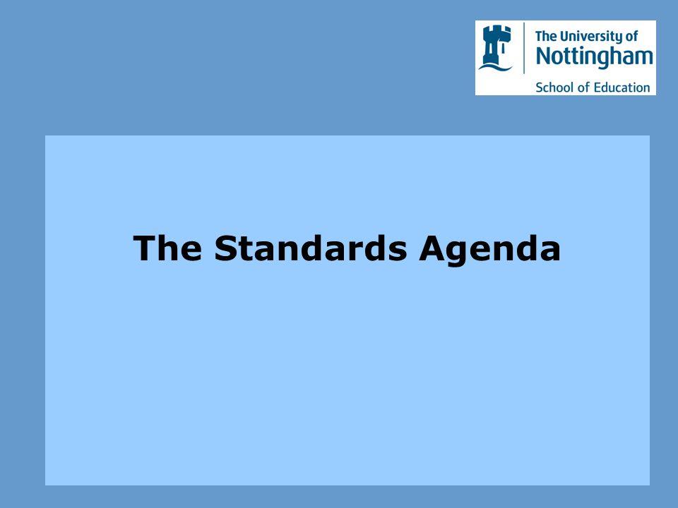 The Standards Agenda