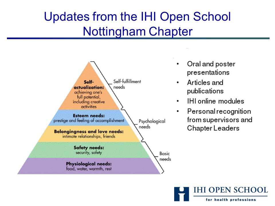 Updates from the IHI Open School Nottingham Chapter