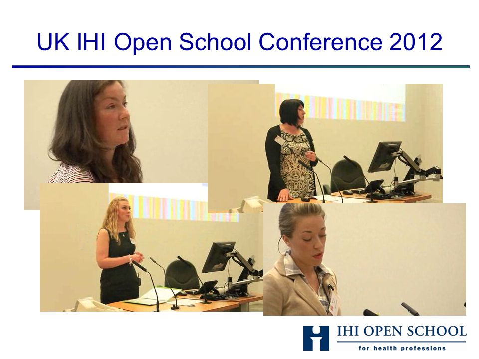 Updates from the IHI Open School Nottingham Chapter Other medical societies Not enough time to do IHI courses Healthcare reform Changing medical curriculums IHIOS becoming more known Difficulties in keeping the momentum going Students motivated by whats in it for me needs Strength in numbers Good contacts with faculty, QI department Backdrop of successful audits and QI projects StrengthsWeaknesses Threats Opportunities