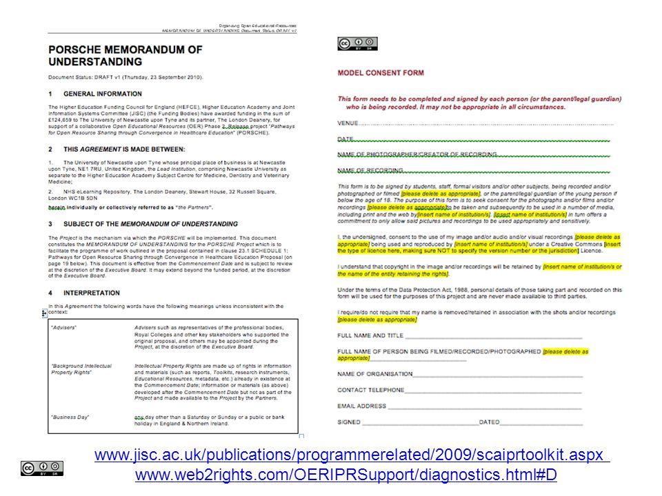www.jisc.ac.uk/publications/programmerelated/2009/scaiprtoolkit.aspx www.web2rights.com/OERIPRSupport/diagnostics.html#D