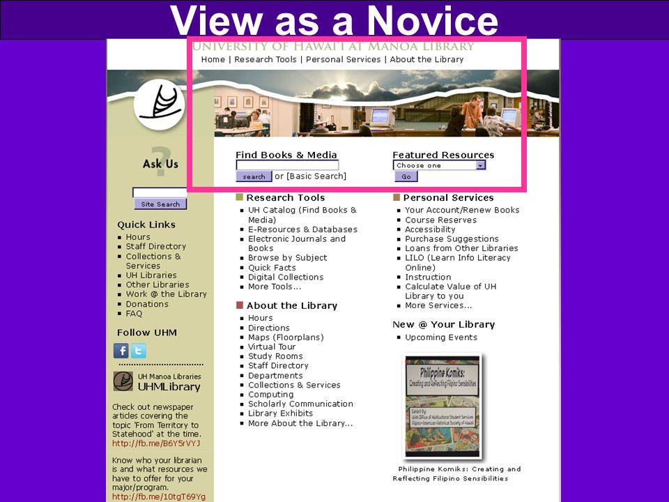 View as a Novice
