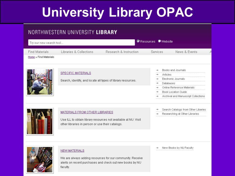 University Library OPAC