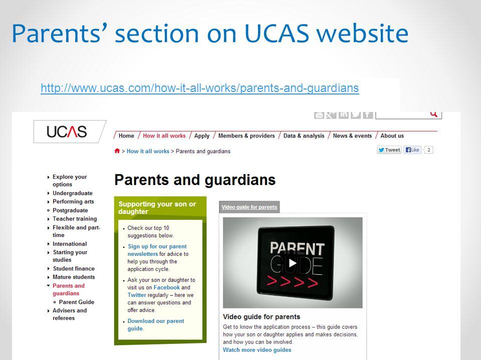 Parents' section on UCAS website http://www.ucas.com/how-it-all-works/parents-and-guardians