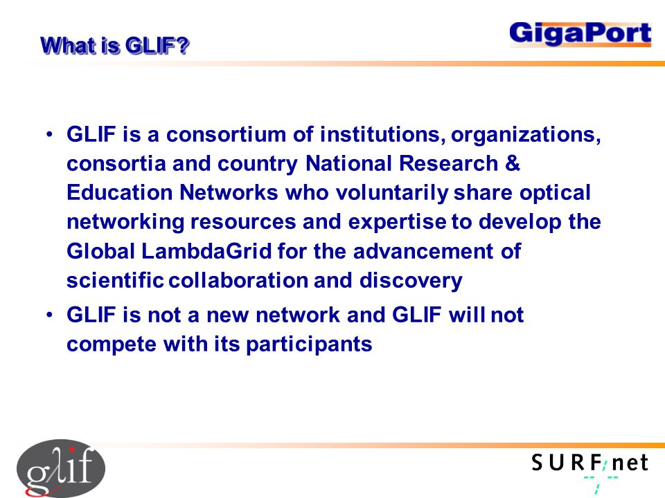 What is GLIF.