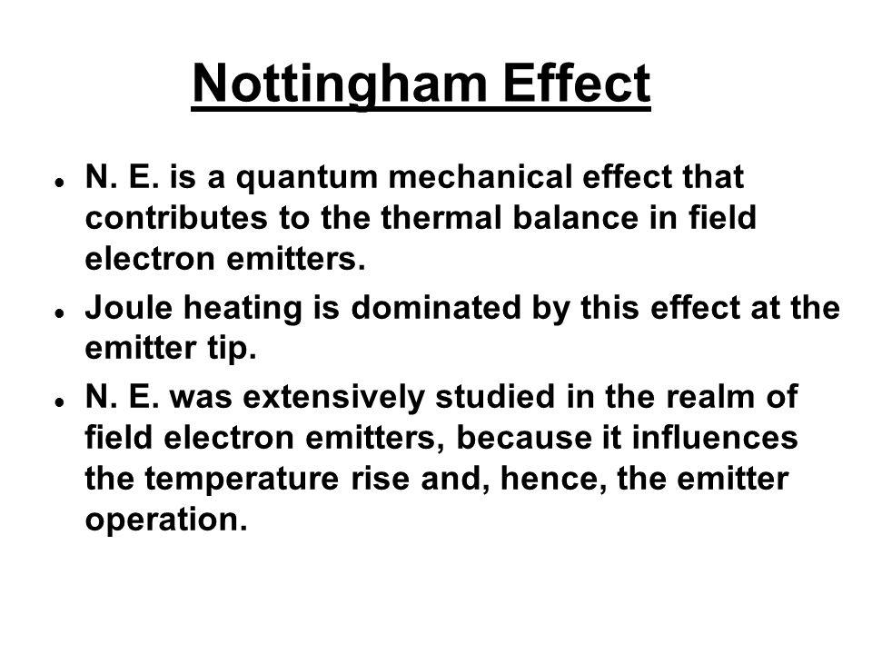 Nottingham Effect N. E.