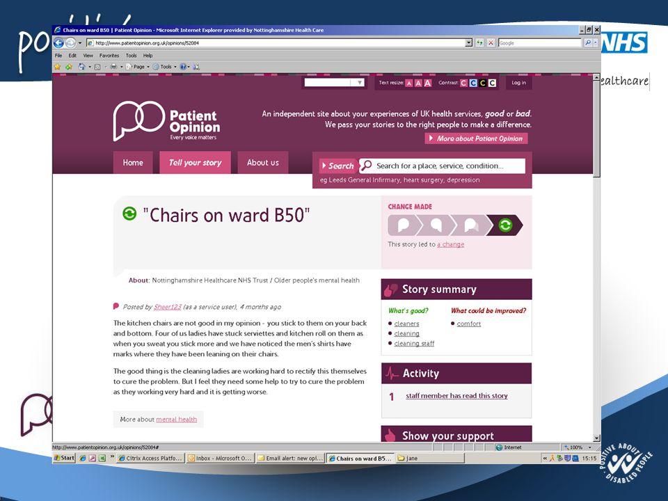 Jane Danforth Involvement Officer Nottinghamshire Healthcare NHS Trust