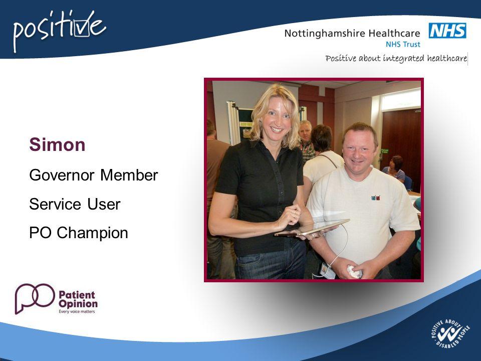 Simon Governor Member Service User PO Champion