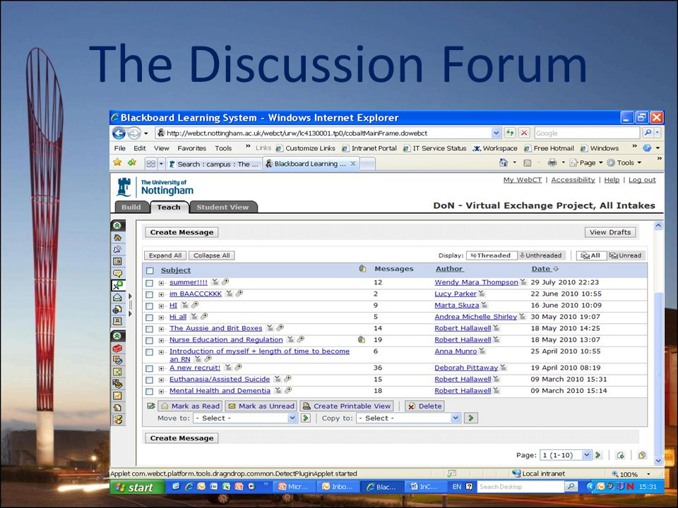The Discussion Forum