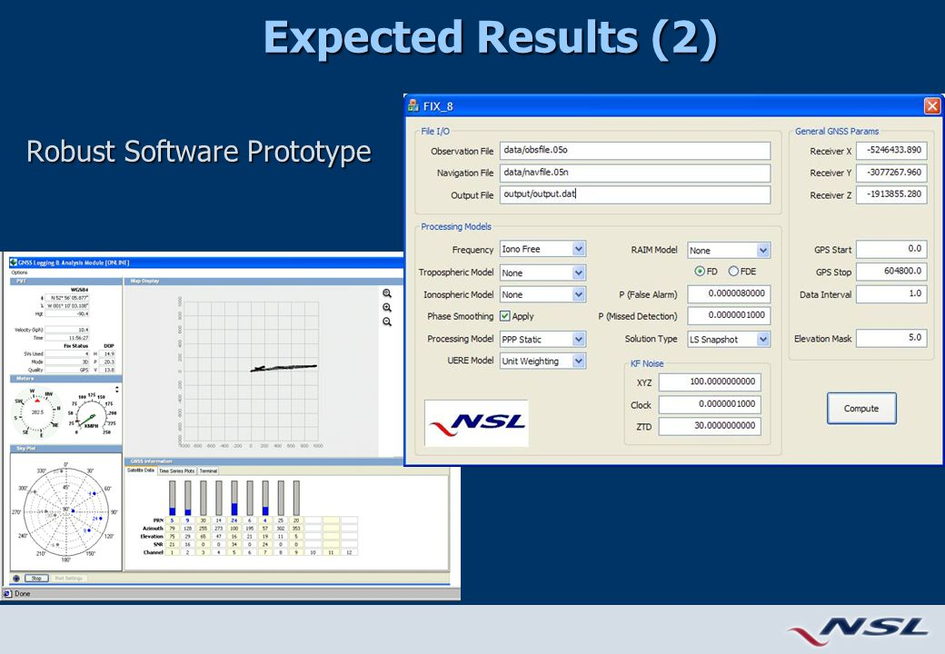 Expected Results (2) Robust Software Prototype