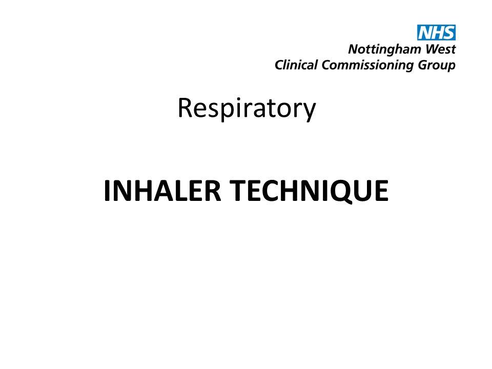 Respiratory INHALER TECHNIQUE