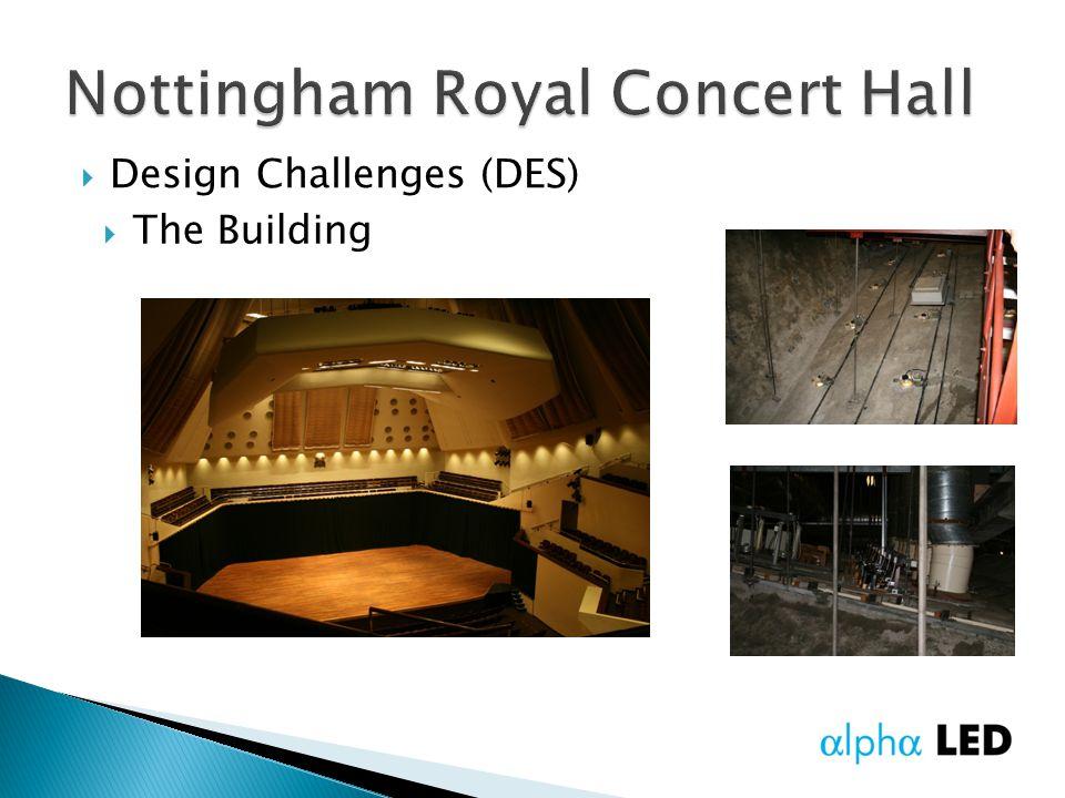  Design Challenges (DES)  The Building