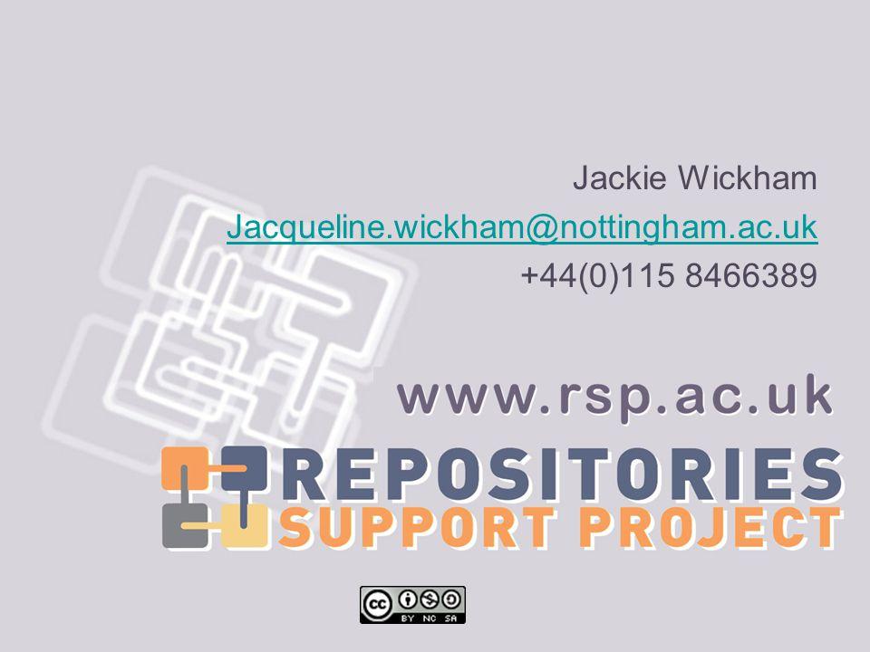 Jackie Wickham Jacqueline.wickham@nottingham.ac.uk +44(0)115 8466389