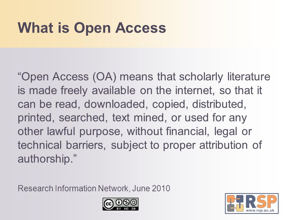 """What is Open Access """"Open Access (OA) means that scholarly literature is made freely available on the internet, so that it can be read, downloaded, co"""