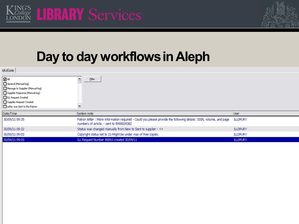 13 Day to day workflows in Aleph Communicating with the end user