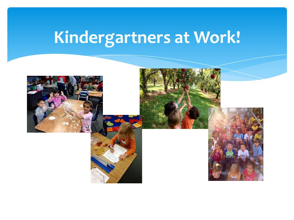 Kindergartners at Work!