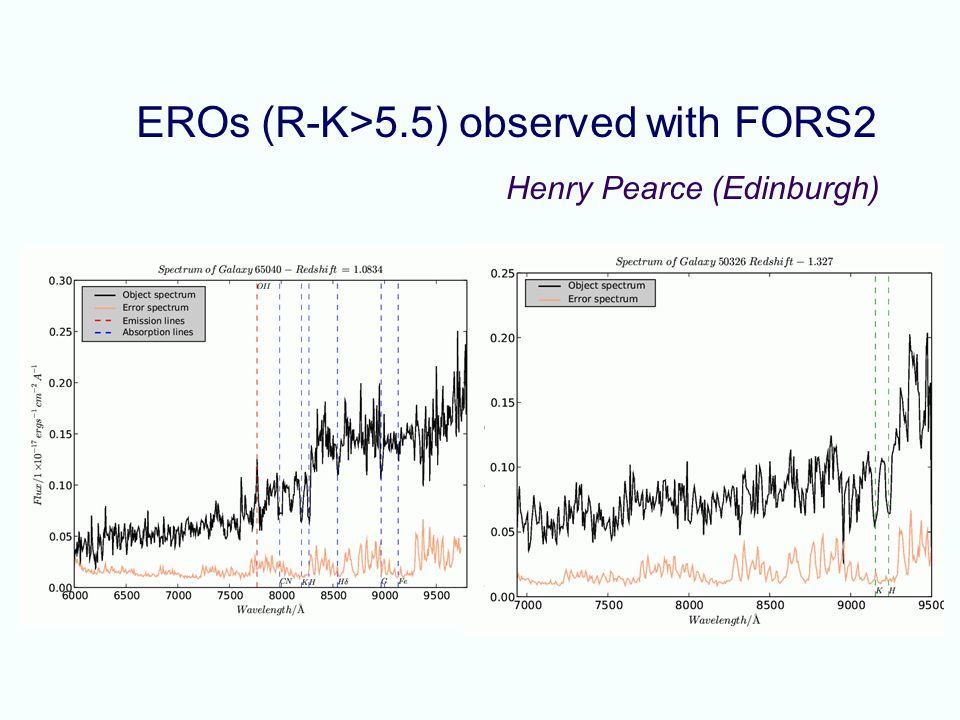 EROs (R-K>5.5) observed with FORS2 Henry Pearce (Edinburgh)