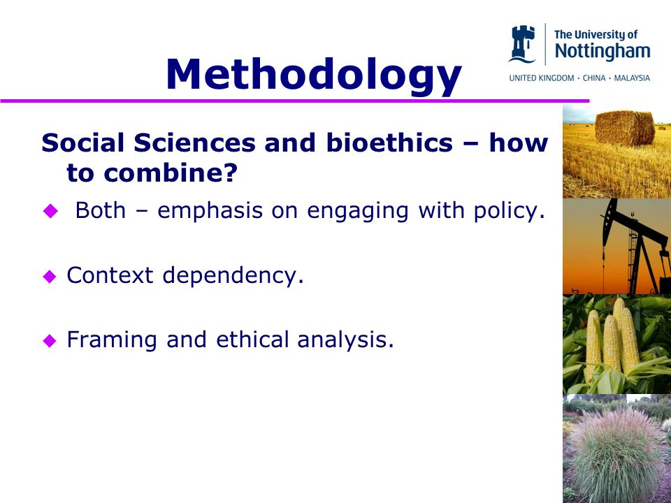 Methodology Social Sciences and bioethics – how to combine.