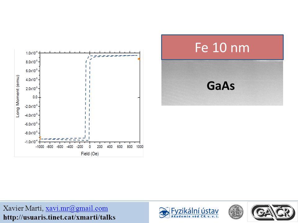 Xavier Marti, xavi.mr@gmail.comxavi.mr@gmail.com http://usuaris.tinet.cat/xmarti/talks GaAs Fe 10 nm 300 K