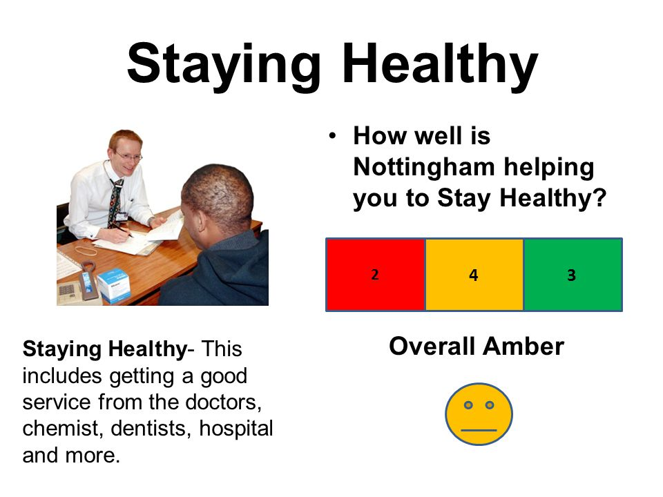 Staying Healthy How well is Nottingham helping you to Stay Healthy.