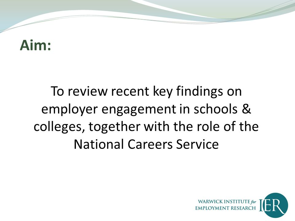 Summarise Relevant policy context Explore Recent research findings Reflect On future implications
