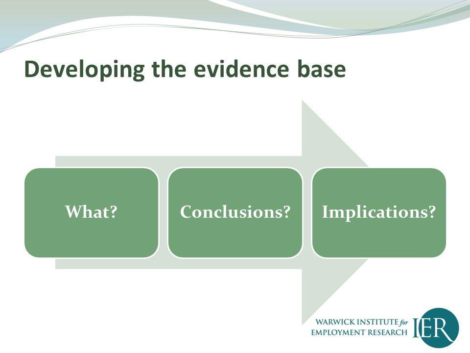 What? Data collection Literature Review SurveysInterviews Case Studies