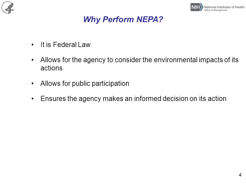 NEPA Process Issue Notice of Intent (NOI) Hold Public Scoping Meeting Issue Draft EIS – March 21, 2014 - Copies of draft were given to the Environmental Protection Agency and a Notice of Availability (NOA) was posted in the Federal Register -There is a 60 day comment period on the draft EIS Hold public comment meeting on DEIS Issue Final EIS -The final EIS must respond to relevant comments received from other agencies and the public -The final EIS is again given to the EPA and a NOA is published within the federal register -30 day waiting period Record of Decision -Final step for the EIS process 5