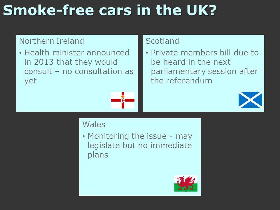 Smoke-free cars in the UK.