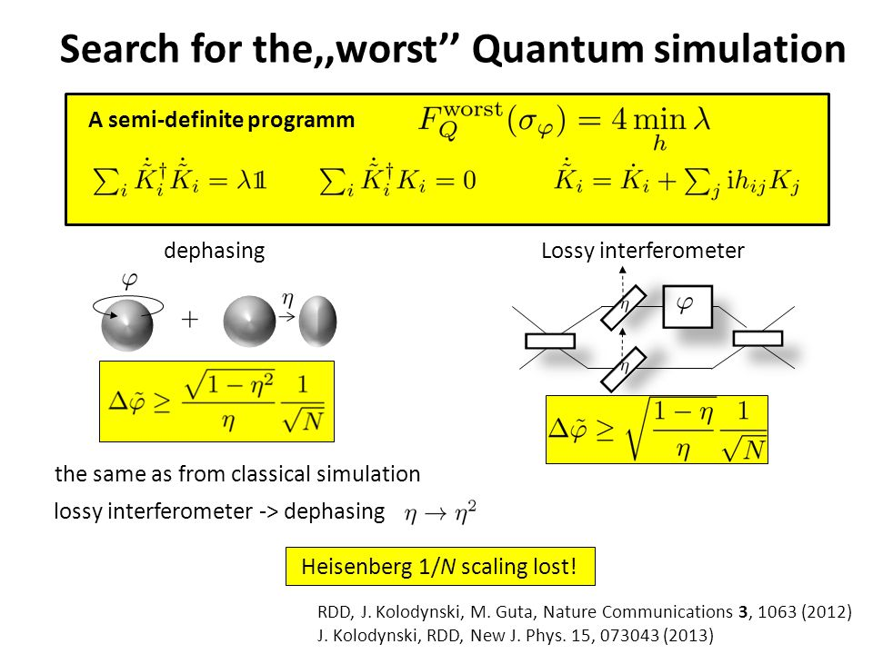 Search for the,,worst'' Quantum simulation RDD, J.