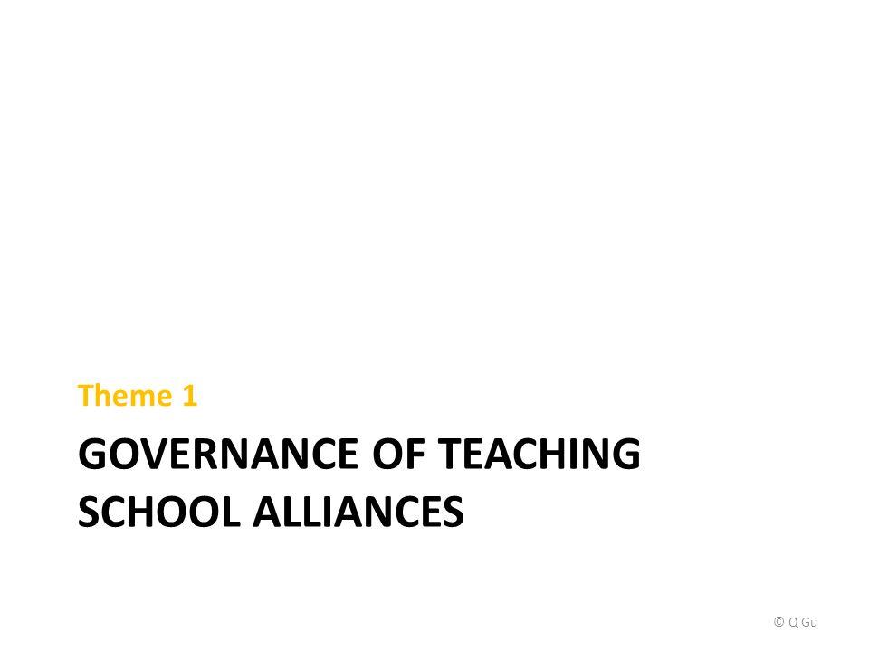 GOVERNANCE OF TEACHING SCHOOL ALLIANCES Theme 1 © Q Gu